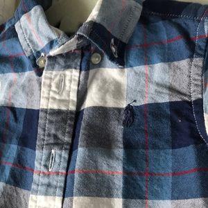 Long sleeved Ralph Lauren button collard shirt
